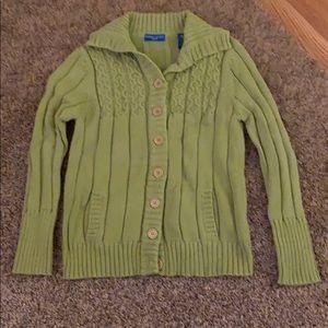 Karen Scott Green Cardigan Sweater
